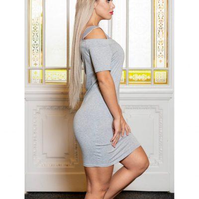 γυναικείο φόρεμα casual γκρί